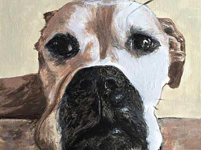 Marley acrylic paint boxer paint