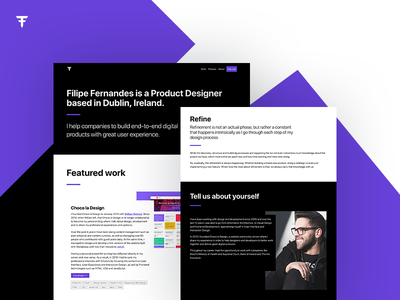 Filipe Fernandes Portfolio personal website portfolio javascript css html user experience interaction design interface design ixd ux ui product designer