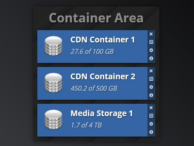 Container List css3 list ui