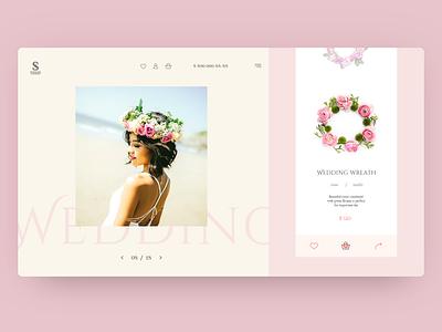 Concept product card for wedding wreath ui ux design web typography minimalistic minimalism landing page daily concept product card ui design ux  ui webdesign