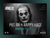 Joker landing page concept