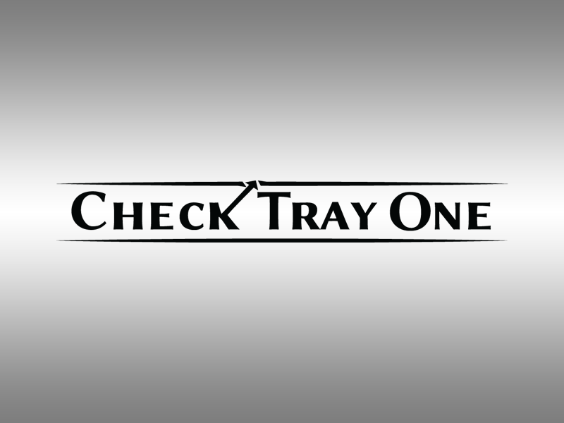 Logo design check tray one vector icon design graphic design branding one check logo