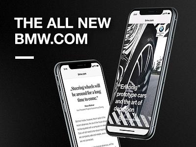 The new bmw.com user experience design ux experience user international platform bmw relaunch concept