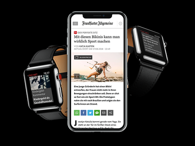 FAZ.net Website and App iphone watch newspaper webapp app ux ui web design flat live project