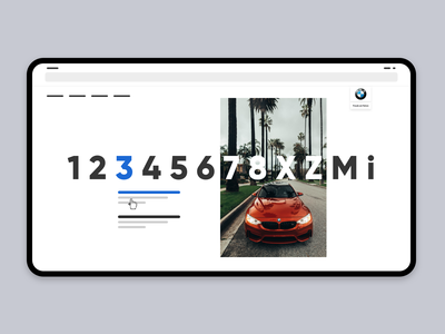 Low-fidelity Wireframe: Model Selection configurator web select car switch stage design stage ux wireframe bmw