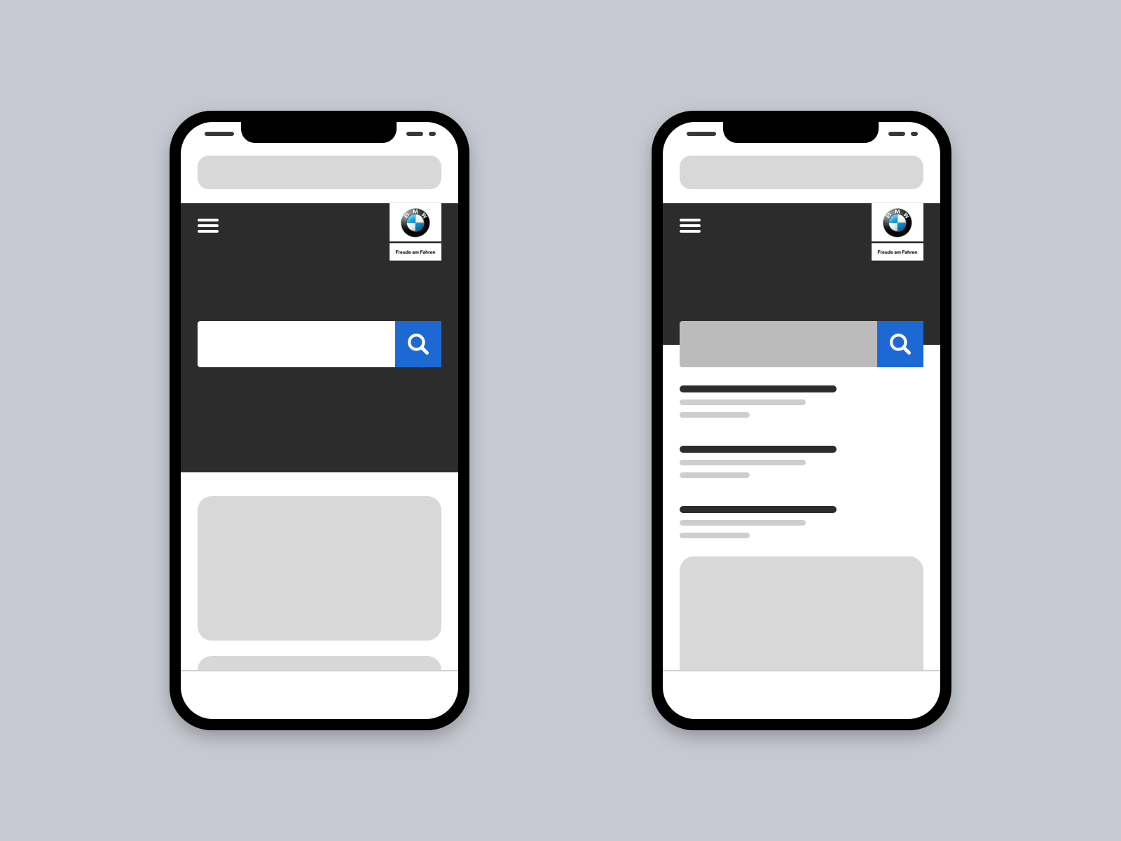 Low-fidelity Wireframe: Search