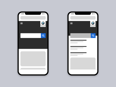 Low-fidelity Wireframe: Search bmw ux mobile low-fidelity wireframe search web