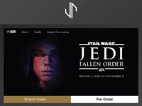 Star Wars Fallen Order Game Website Design