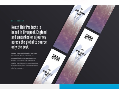 Neesh landing page gradients hair and beauty ui landing page parallax website design