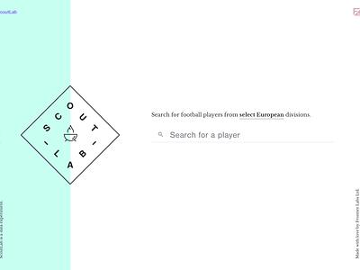 ScoutLab Application Design application design design football ui landing page website design