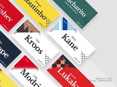 ScoutLab Social Media Artwork promotional design world cup 2018 social campaign vector design football