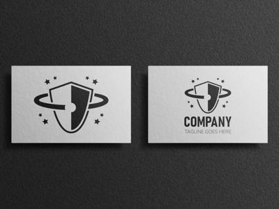 Shield Planet Logo Business Card