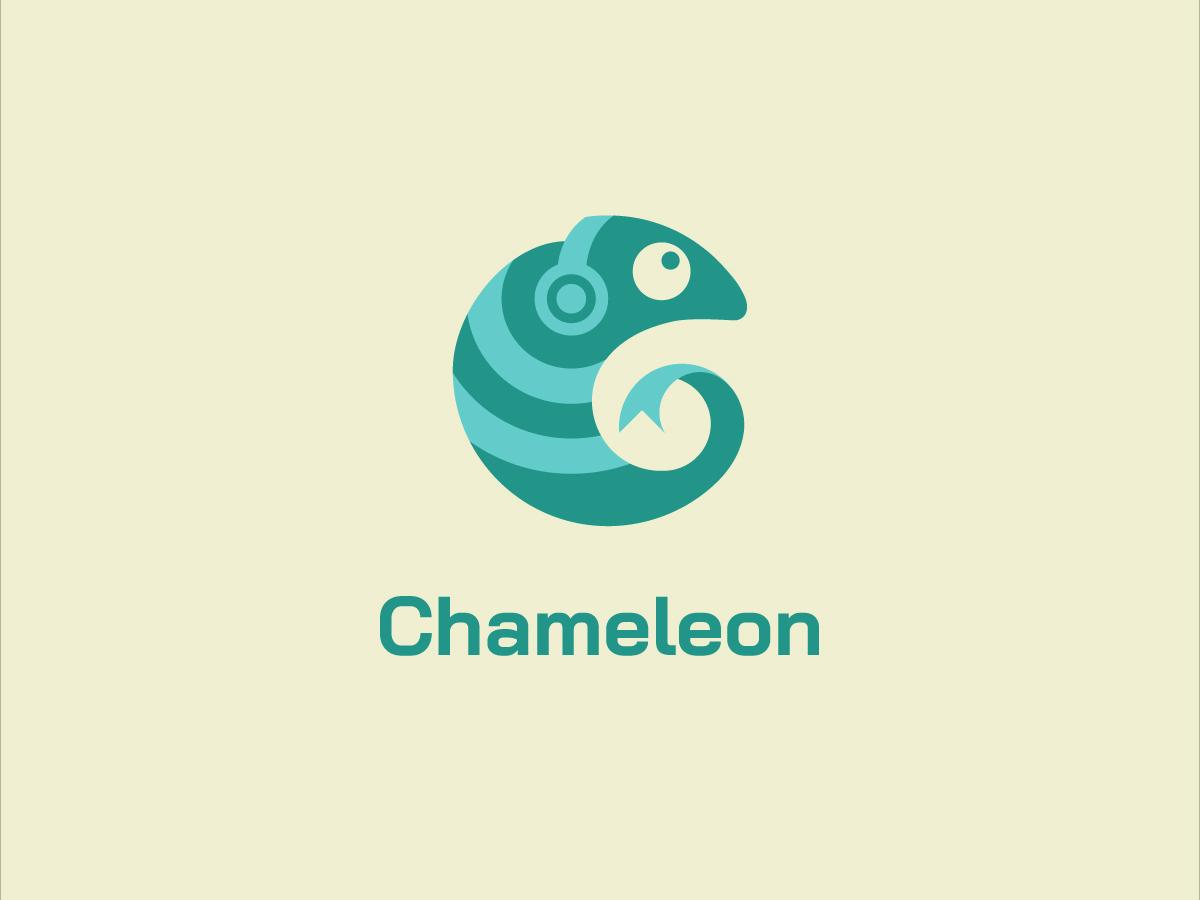 Chameleon design logo bookmarks headphone audio chameleon
