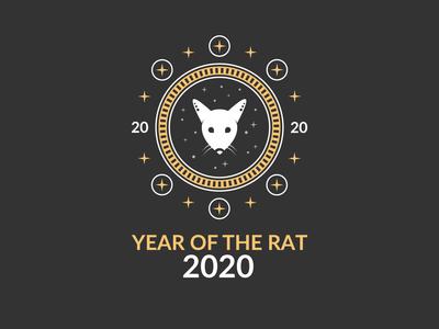 Year of the Rat 2020 T-Shirt Design