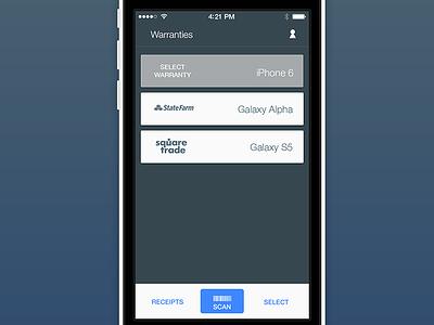 iOS App ios app ui mockup iphone 5c