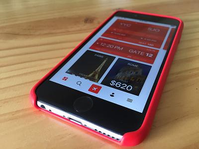 Air Canada Redesign clean main ux ui iphone ios mobile app travel air flight