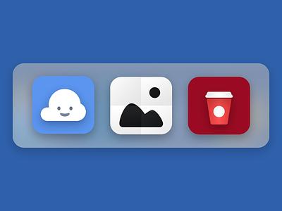 Dock Custom Stacks coffee smiley cloud icons custom folder visual ui