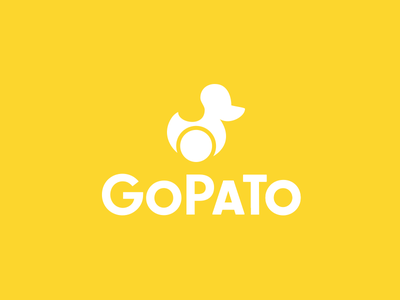 Gopato 1.5 toy duckling visual tech startup delivery duck pato brand rebrand logo