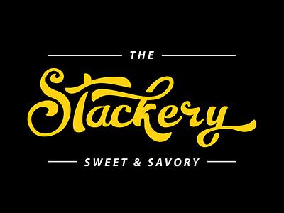 The Stackery wordmark typography script logotype logo lettering identity branding