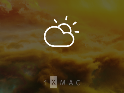 Above Music Playlist design system iconography cloudy cloud weather icon