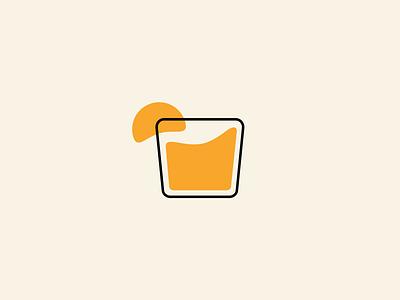 Orange Crush dann design memphis maryland oj juice orange icon logo branding cocktail drink