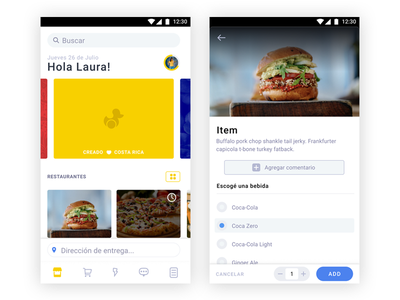 GoPato 3.0 banner main screen burger add food delivery complexity reduction android