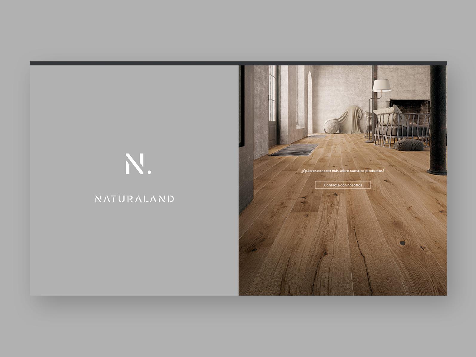 Naturaland — Landing page design branding logo logotype website wood identity ui web landing