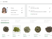 User profile - Tea Company