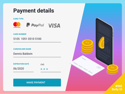 Daily UI  #002 Credit Card Checkout dailyui credit card payment 002 daily ui ui daily