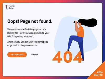 Daily UI #008 404 Page 404 page error 404 daily ui dailyui ui daily