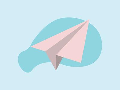Just a plain paperplane :) paperplane graphic illustration flat design