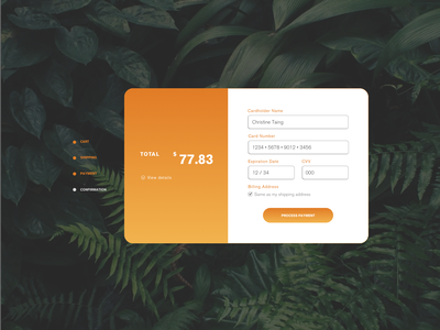 Daily UI Challenge 002 — Checkout design web ux ui dailyui 002 dailyui