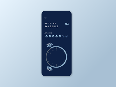 Daily UI Challenge 007 — Settings bedtime mobile dailyui 007 dailyuichallenge ui dailyui settings page settings ui settings
