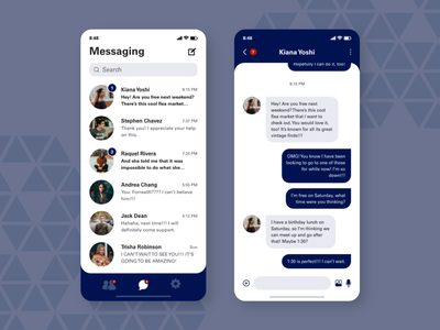 Daily UI Challenge 013 — Direct Messaging dm ux design ui social media web 013 messaging dailyuichallenge dailyui