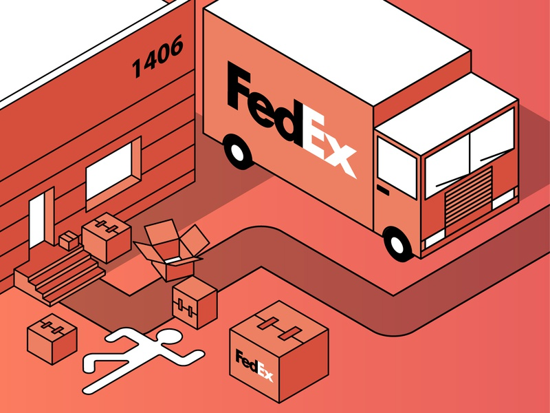 A Woman Sues FedEx Over Fall photograhy photo isometric design isometric art isometric flat  design type vector minimal flat grid layout typography layoutdesign illustration grid construction design