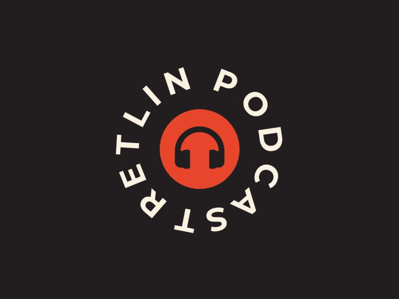 Podcast company typography branding icon logodesign illustration logo