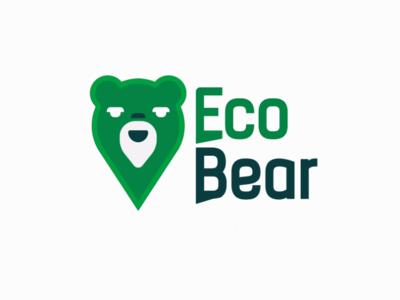 Eco logo flat concept typography logodesign logo