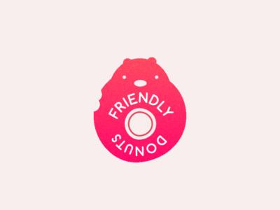 Frendly Donuts flat branding logodesign logo