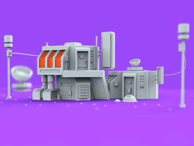 Star Eatery3d eatery low-poly moi3d lowpoly3d keyshot building lowpoly