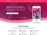 Music is life (landing page)