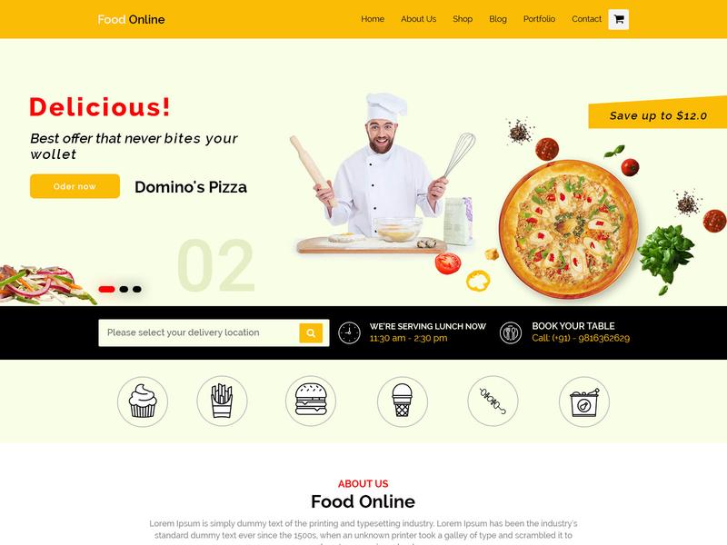 Pizza Lovers this is for you photo album mobile minimal illustrator typography mockup wire frame web ux lettering ui landing page website logo animation webdesigner illustration design branding app