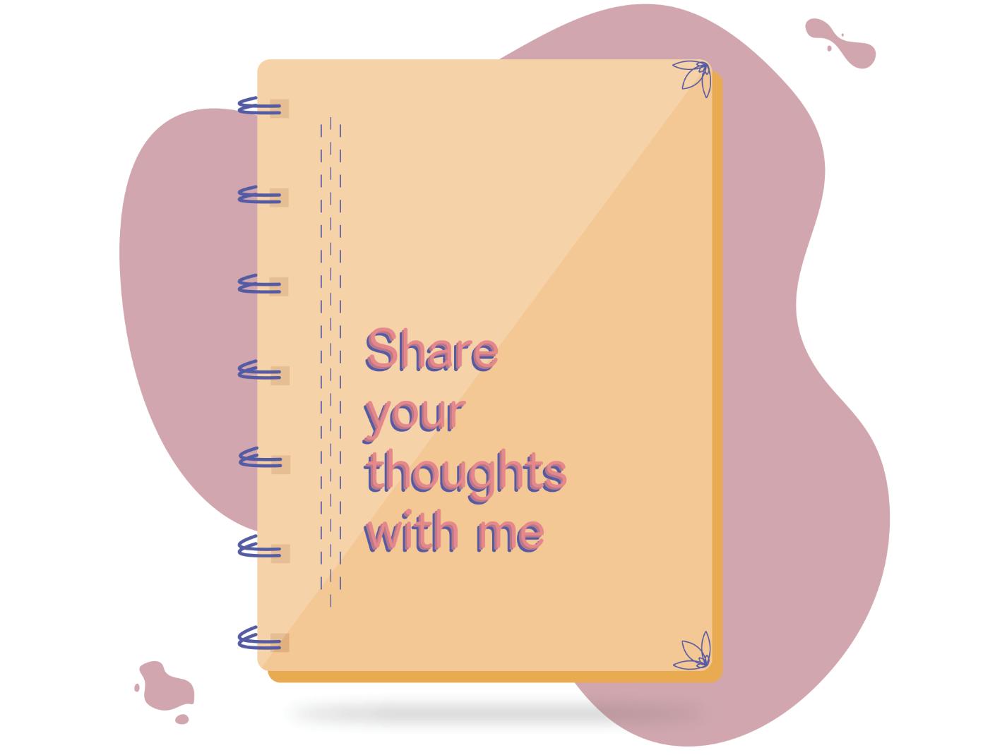 My friendly notebook illustration digital art design