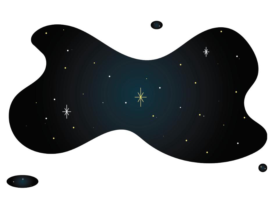 Space on white background branding illustration digital art design