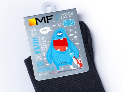 MF — SOCKS AND TIGHTS vector character label illustration brand logo packaging design packaging trademark design branding tights socks