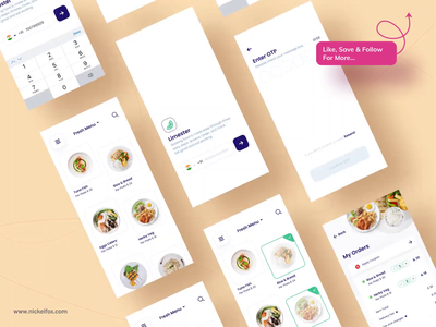 Limester - Food App prototype typogaphy branding icon logo food food app map figma aftereffects animation ux ui clean minimal illustraion design app android ios
