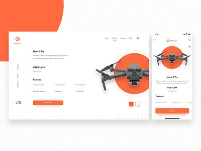 Pirate Eye vector app concept ui web design landing page minimal web icon ux cards branding logo ui design app android ios app ui responsive drones drone