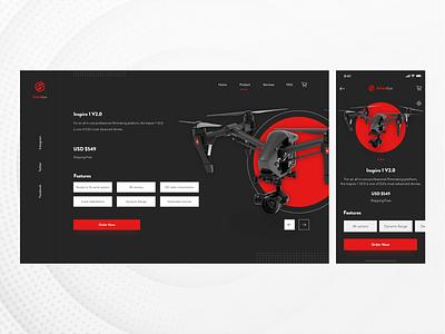 Pirate Eye Dark Theme design app website flat branding logo typography illustration android cards drones responsive ux icon web minimal ui web design ui ux design app concept vector