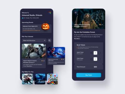 Universal Studio - App Concept