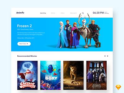 AnimTv typography fonts design minimal app concept cards description episode tv app tv furniture movie app cinema movie animation ux ui smart tv smart home netflix