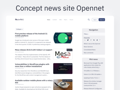 Concept news site Opennet